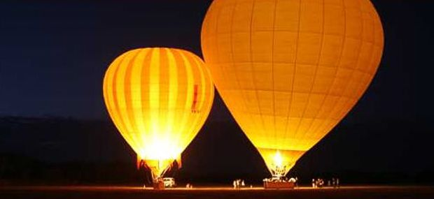 Hot Air Balloon Cairns and Port Douglas Luxury Tour Balloon Inflation at Sunrise