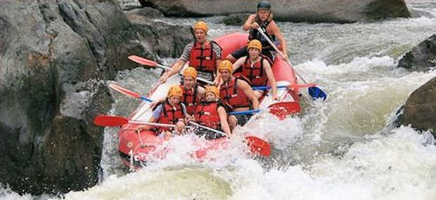 Cairns and Port Douglas White Water Rafting Barron River with Hot Air Ballooning Tour