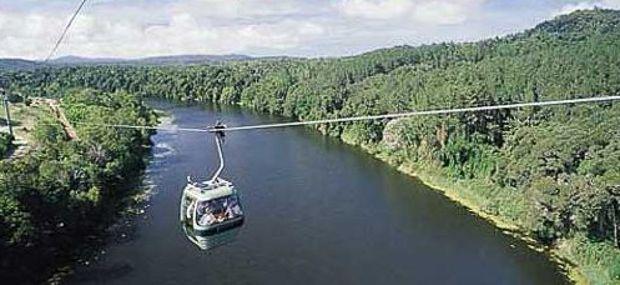 Skyrail Gondola Rainforest Cableway to Kuranda Village Queensland Australia